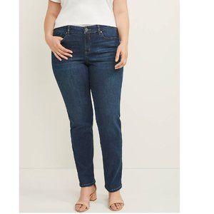 Lane Bryant Genius Fit Dark Wash Straight Jeans
